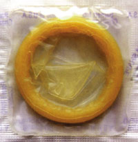 The condom helps prevent pregnancy and most STIs, including HIV